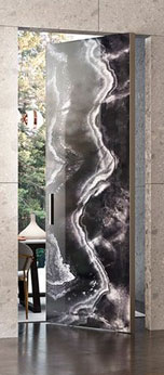Large custom door with stone by ANL