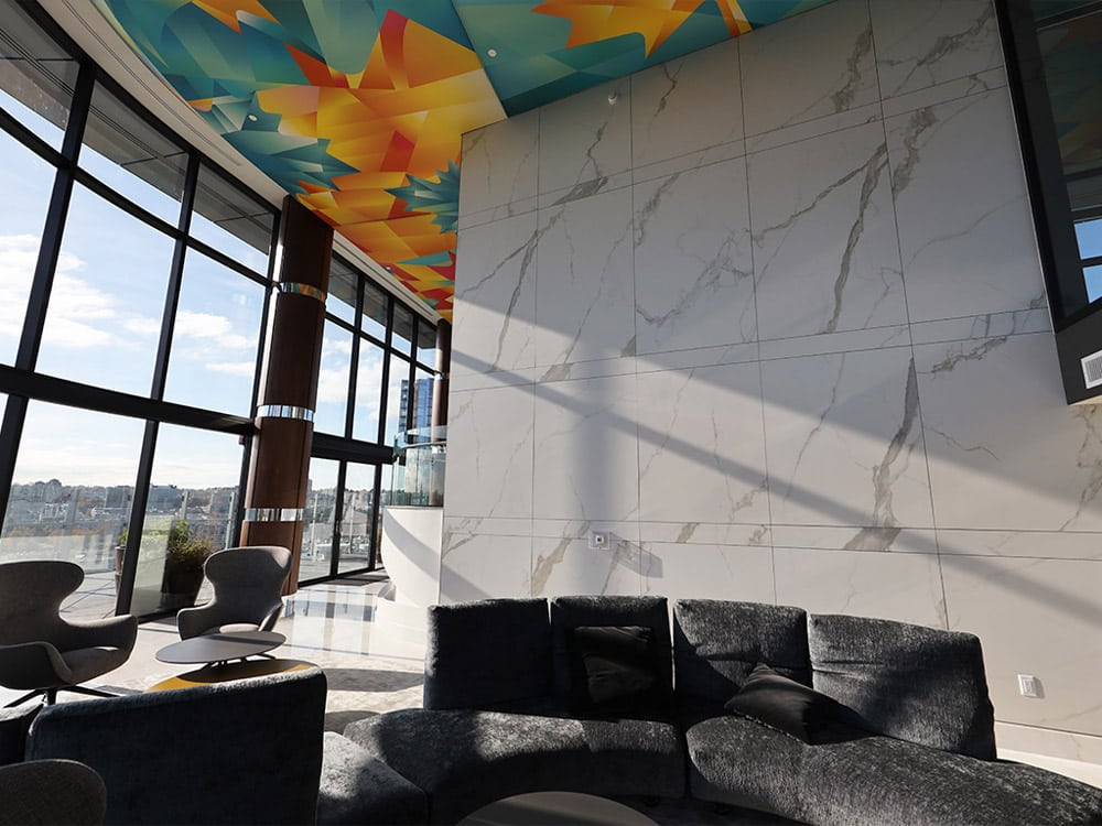 Large format wall tiles