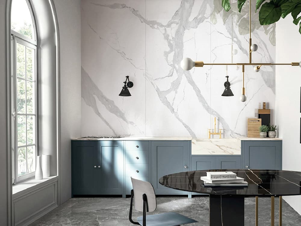 Custom designed interior for office with sink