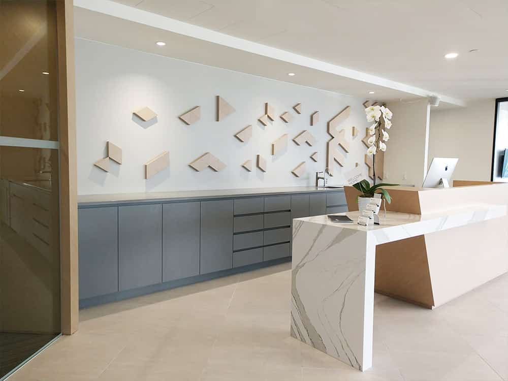 Interior health feature wall
